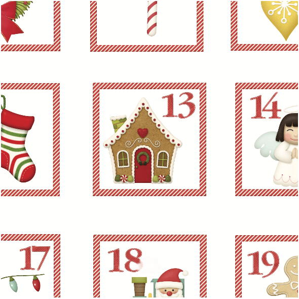 Fabric 5086 | Kalendarz adwentowy