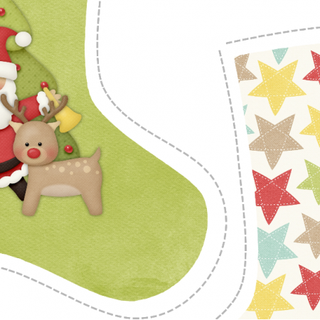 "Fabric 5147 | Skarpeta świąteczna ""ho ho ho""1"