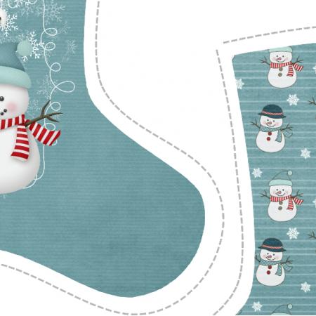 "Fabric 5149 | skarpeta świąteczna ""brrr"""