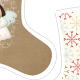 "Fabric 5150 | skarpeta świąteczna ""little angel"""