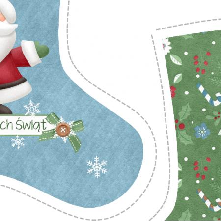 "Tkanina 5152 | sKarpeta świąteczna ""Santa"""