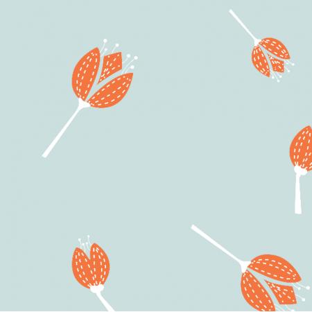 Fabric 5567 | Kwiaty pomarańczowe