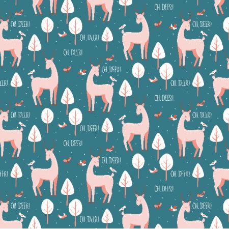 Tkanina 5588 | Oh, deer!