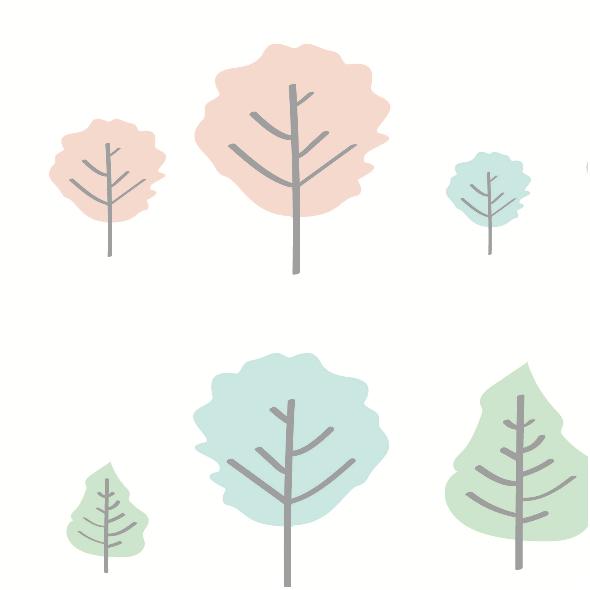 Tkanina 5645 | pastel tree