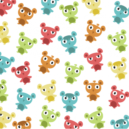 Fabric 5696 | colorful bears
