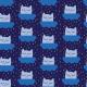 Fabric 5704 | koty na chmurkach