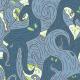 Tkanina 5722 | blue vines
