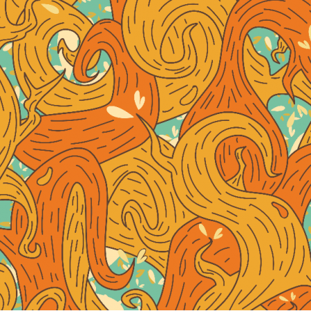 Fabric 5724 | orange vines