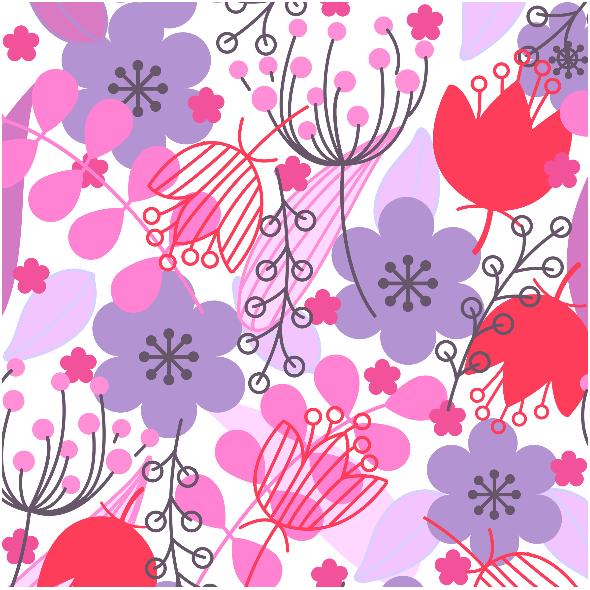 Tkanina 6009   kwiaty1
