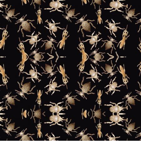 Fabric 6018 | żuki złote Gold bugs1