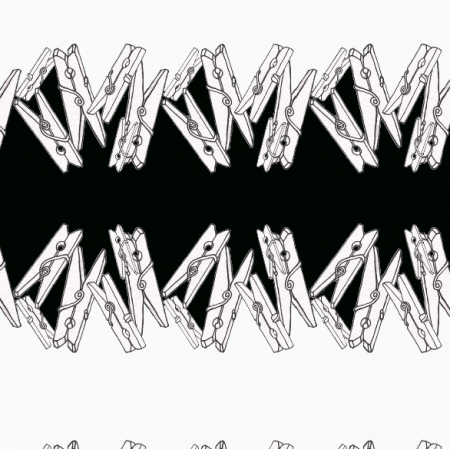 Tkanina 6103 | klamerkowy black&white dance