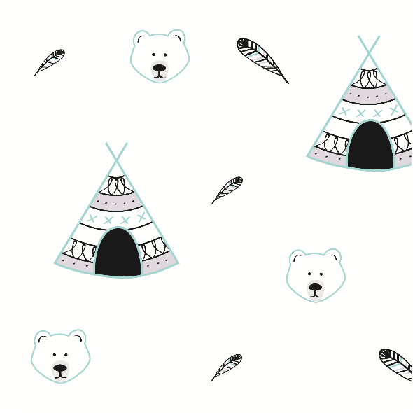 Fabric 6105 | Tipi & Bear