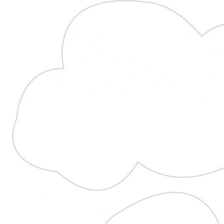 6249 | Girlanda 'chmurki' + Poduszka 40x60cm