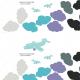 Fabric 6249 | Girlanda 'chmurki' + Poduszka 40x60cm