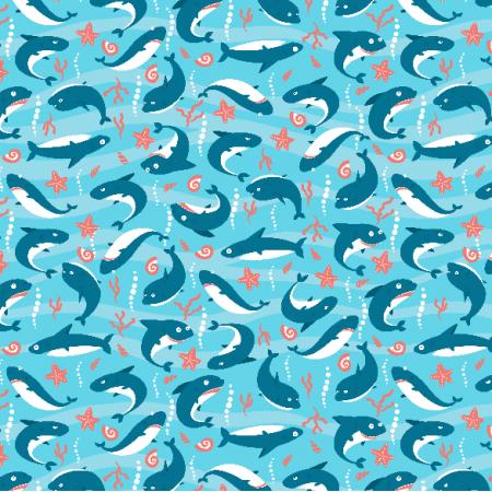 Tkanina 6384 | sharks