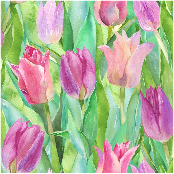 Fabric 6412 | Tulipany