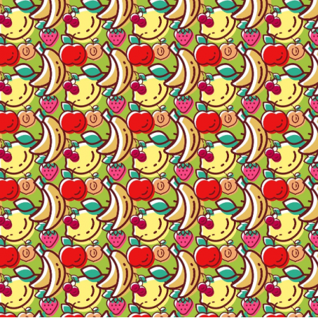 Fabric 6526 | owoce na zielonym