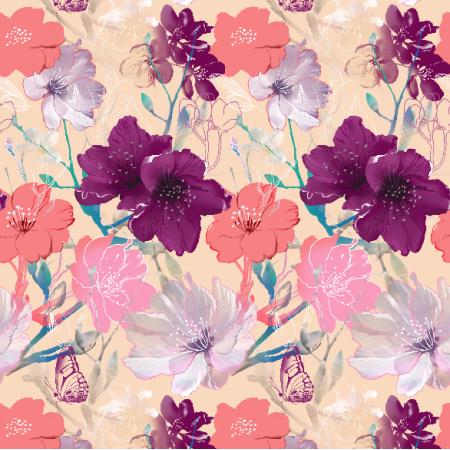 Fabric 6931   Blooming apple