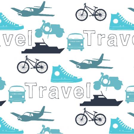 Tkanina 7064 | Blue travel
