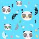 Tkanina 7136 | Pandy w okularach