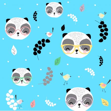 Fabric 7136 | Pandy w okularach