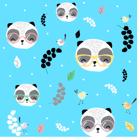 Fabric 7136 | Pandy w okularach