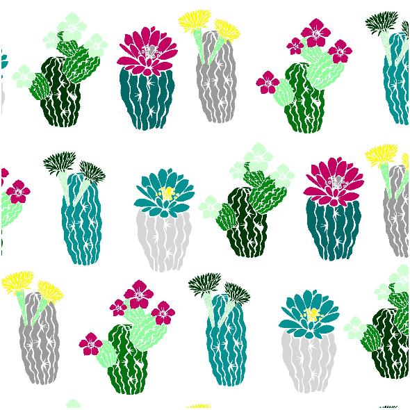 Tkanina 7137 | kaktusowo