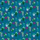 Tkanina 7138 | kaktusowe indygo
