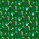 Tkanina 7143 | szmaragdowe kaktusy