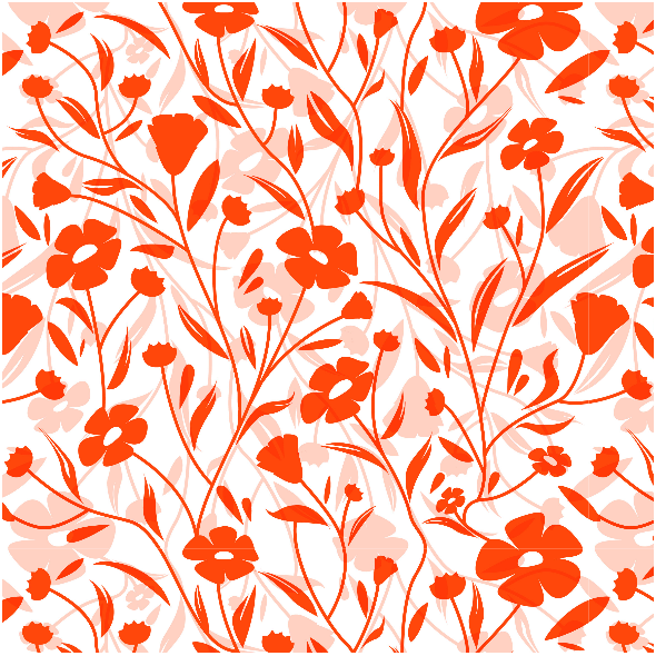 Fabric 7177 | flowers red