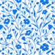 Tkanina 7179 | flowers blue