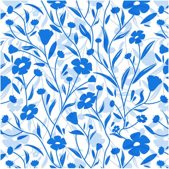 Tkanina 7179 | kwiaty lnu niebieskie
