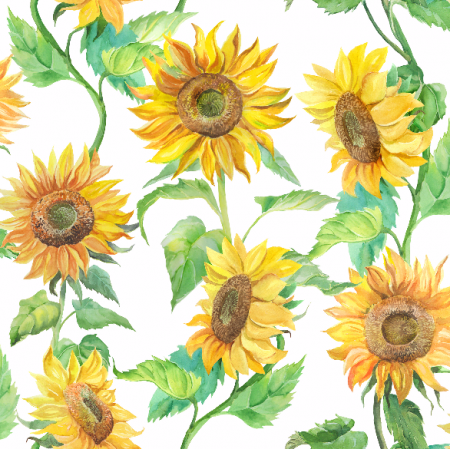 Tkanina 7284 | słoneczniki