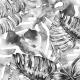 Tkanina 7324 | Szare monstery