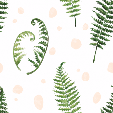Fabric 7334 | fern watercolor