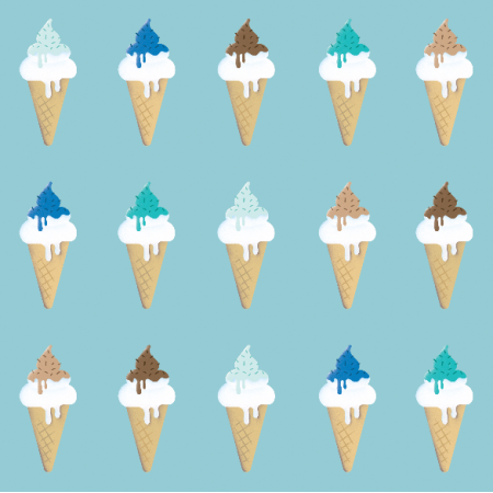 Tkanina 7504 | blue ice cream