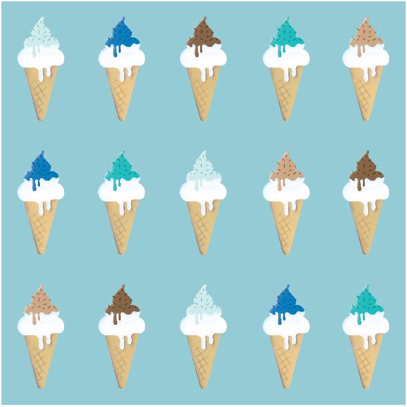 Tkanina 7504 | blue ice cream