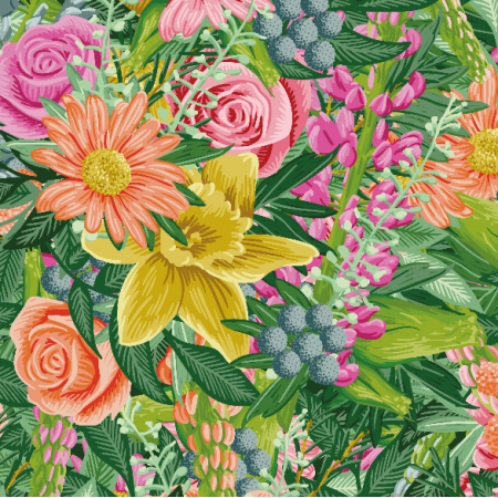Tkanina 7510 | floral-001