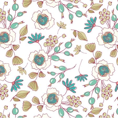 Fabric 8116 | Lipcowe kwiaty