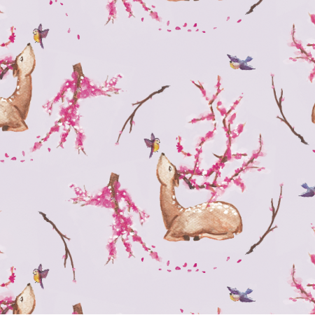 Fabric 8179 | Blossom, my deer! Lavender