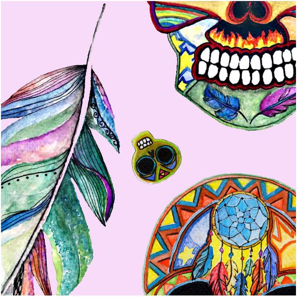 Fabric 8227 |czaszki  pinkiparty0