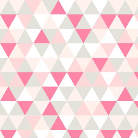 Tkanina 8280 | Różowe trójkąty