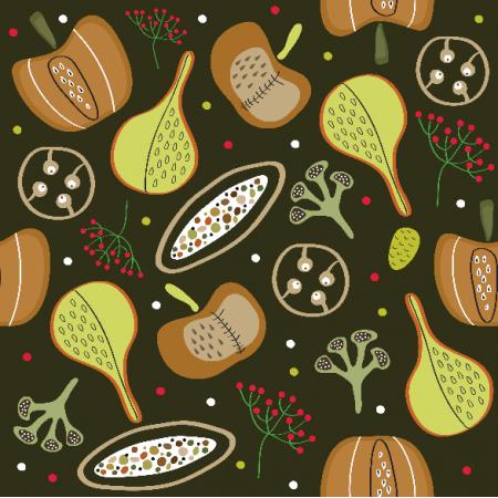Fabric 8371   Autumn pumpkins
