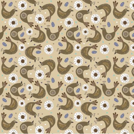 Fabric 8373   Etno birds
