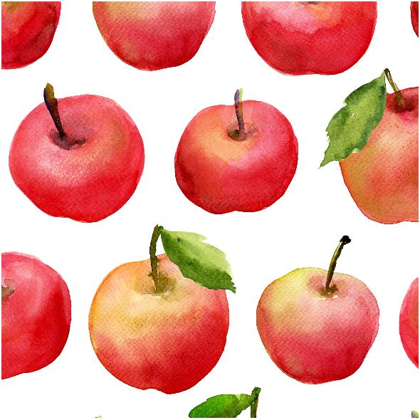 Tkanina 8438 | jabłka 2