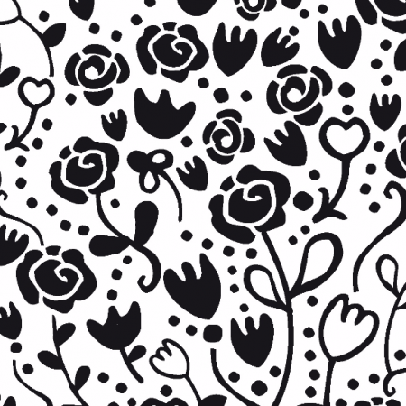 Fabric 1034 | bw Floral