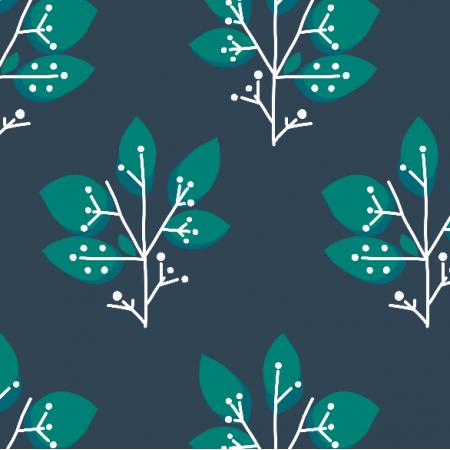 Tkanina 8603 | MISAKI zielone drzewka