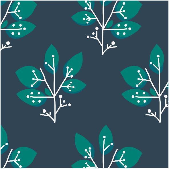 Fabric 8603 | MISAKI zielone drzewka