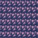 Fabric 8605 | HANAKO różowe kwiaty na granatowym tle