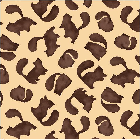 Fabric 8888 | koty brązowe
